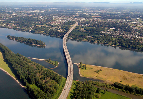 Columbia River Gorge「I-205 Glenn Jackson Bridge War Vetrans Memorial Freeway  Oregon Washington」:スマホ壁紙(13)