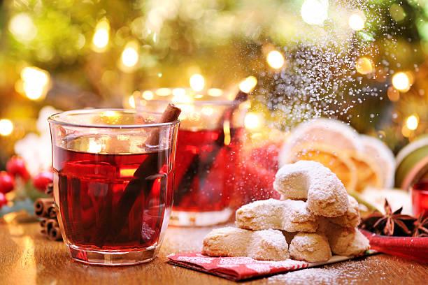 Winter hot drink and christmas cookies:スマホ壁紙(壁紙.com)