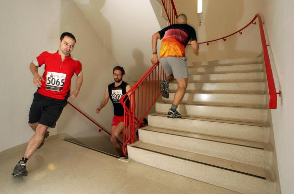 Staircase「Participants Take Part In Vertical Rush Up Natwest Tower In Aid Of Shelter」:写真・画像(3)[壁紙.com]