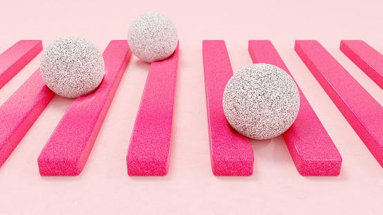 Run Over「Stone spheres on soft stripes」:スマホ壁紙(16)