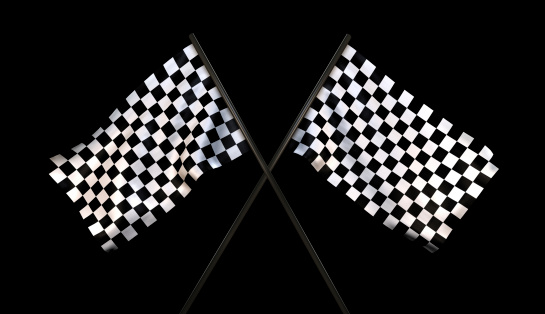 Sports Flag「Finish Line Checkered Flags (With Cliping Path)」:スマホ壁紙(4)