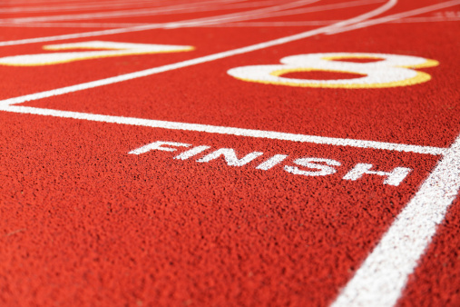 Finish Line「Finish Line In Lane Eight On Red Running Racing Track」:スマホ壁紙(16)