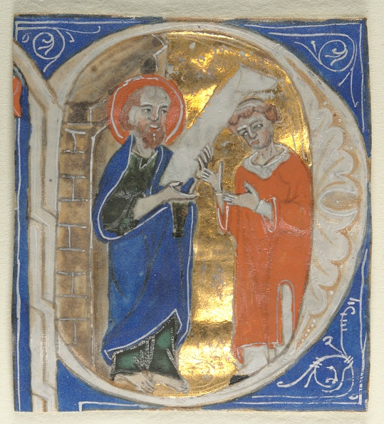 Manuscript「Historiated Initial Excised From A Bible: St. Paul And A Cleric」:写真・画像(17)[壁紙.com]