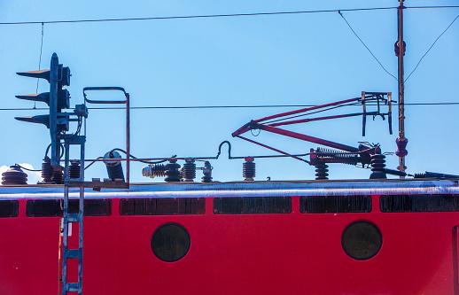Electric train「レールの上の古い電気機関車を追跡します。」:スマホ壁紙(17)