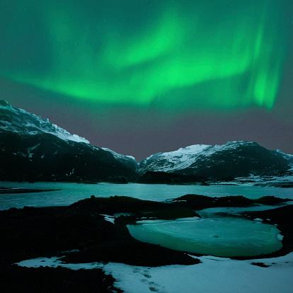 Volcano「アイスランド北部の照明」:スマホ壁紙(15)