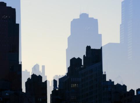 Multiple Exposure「Mulitiple exposure image of Midtown New York.」:スマホ壁紙(15)