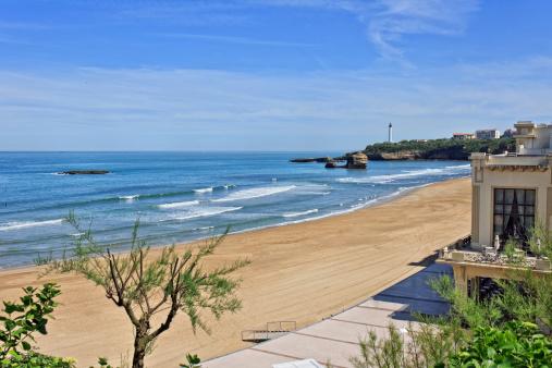Nouvelle-Aquitaine「Biarritz - Beach with promenade」:スマホ壁紙(12)