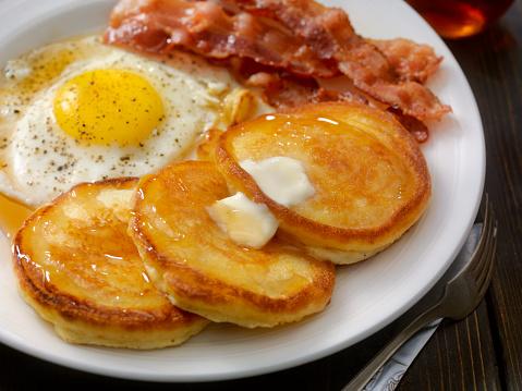 Breakfast「Grand Slam Breakfast - Pancakes, Bacon and Eggs」:スマホ壁紙(5)