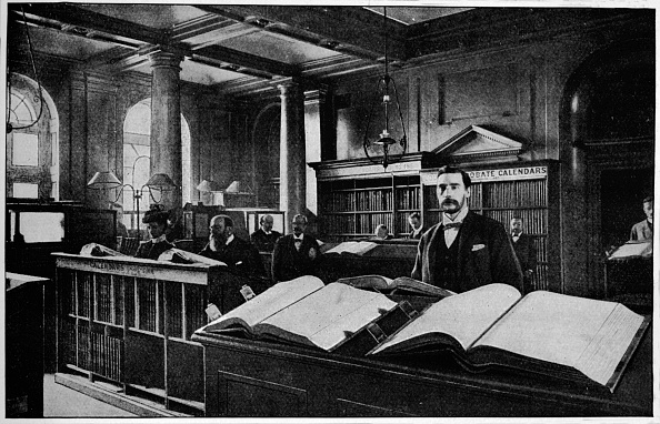Somerset House「Public search room at the Probate Registry, Somerset House, London, c1901 (1901)」:写真・画像(9)[壁紙.com]