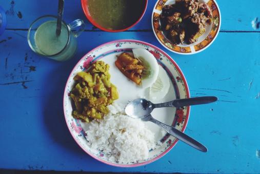 Nepal「Nepal, Close up of nepalese chicken dal bhat」:スマホ壁紙(14)