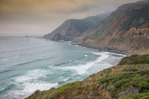 Bixby Creek Bridge「Big Sur California」:スマホ壁紙(9)