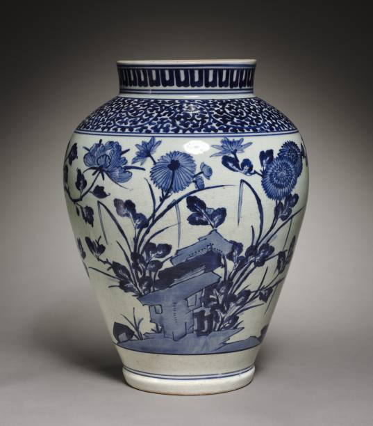 Large Jar With Peonies And Chrysanthemums:ニュース(壁紙.com)