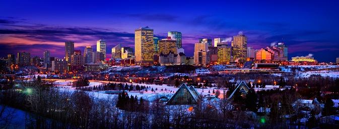 Edmonton「Edmonton Skyline During Winter」:スマホ壁紙(11)
