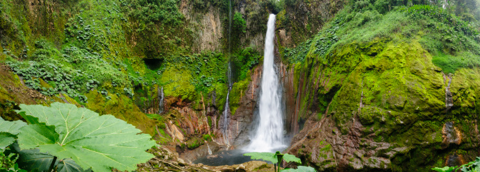 Rock Formation「XXXL: Tropical waterfall in volcanic crater」:スマホ壁紙(9)