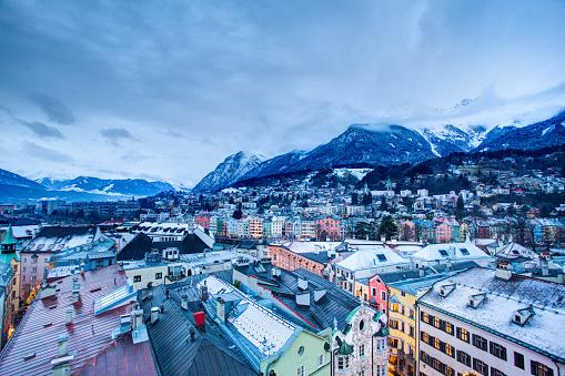 European Alps「Innsbruck - Winter Landscape」:スマホ壁紙(16)