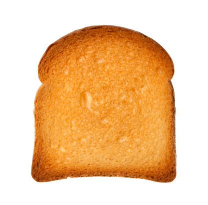 Corn Bread「Close up from above single slice of twice-baked bread isolated」:スマホ壁紙(13)