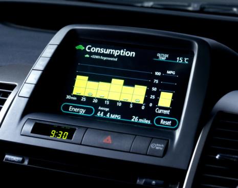 Efficiency「Hybrid car fuel consumption screen.」:スマホ壁紙(7)
