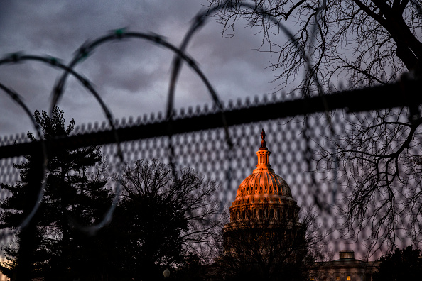 Capitol Hill「Protests Expected In Washington DC Ahead Of Biden Inauguration」:写真・画像(9)[壁紙.com]