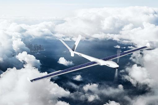 Glider「Drone flying above ocean」:スマホ壁紙(14)