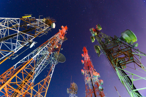 Antenna - Aerial「Ground view of telecommunication towers」:スマホ壁紙(16)
