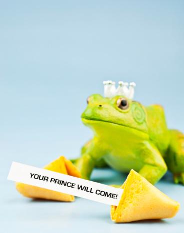 恋愛運「カエルの王子様にフォーチュンクッキーのメッセージ」:スマホ壁紙(7)