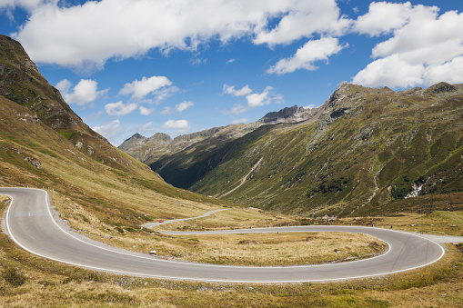 Winding Road「Austria, Tirol, Alps, Silvretta High Alpine Road, Paznaun Valley」:スマホ壁紙(18)
