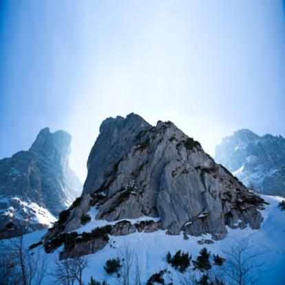 Kaiser Mountains「Austria, Tirol, Wilder Kaiser, Snow covered mountains」:スマホ壁紙(14)