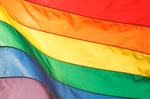 虹「レインボーゲイプライド国旗輝く明るい太陽の光」:スマホ壁紙(18)