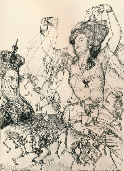 Satire「Le Roi S'Amuse, 1910, (1924). Artist: Edmund Joseph Sullivan」:写真・画像(5)[壁紙.com]