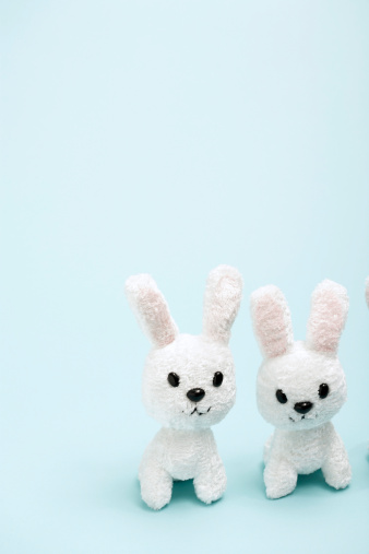 Easter Bunny「Two toy bunnies side by side」:スマホ壁紙(15)