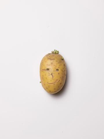 擬人化「Potato head, smiling」:スマホ壁紙(5)