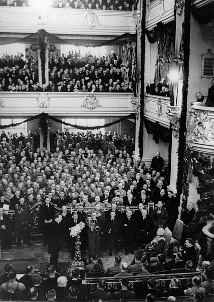 Strategy「Adolf Hitler's policy statement on the occasion of the inauguration of the new Reichstag. In the first row: Franz Seldte; Alfred Hugenberg; Wilhelm Frick; Hermann Goering and Konstantin von Neurath. Berlin. Germany. 03/21/1933. Photograph. (Photo by Imagno」:写真・画像(18)[壁紙.com]