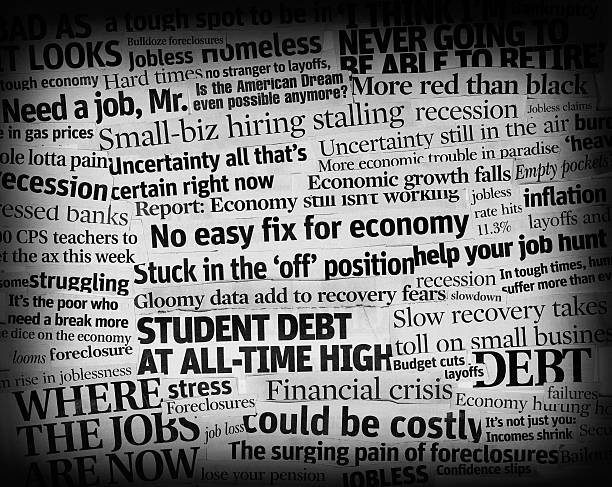 bad economic headlines 2011 collage:スマホ壁紙(壁紙.com)