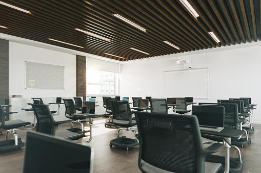 Learning「Modern Empty Classroom Organized For Social Distancing」:スマホ壁紙(8)