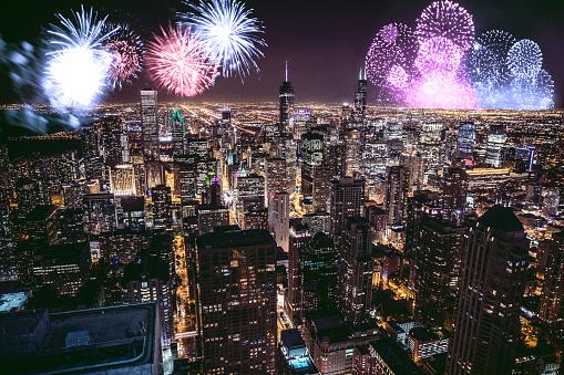 花火「新年の花火の日やお祝い」:スマホ壁紙(19)