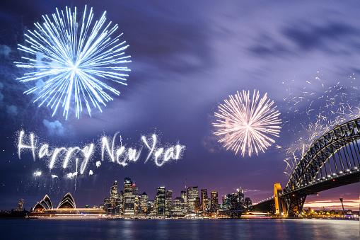 お正月「新年の日花火大会やシドニーでお祝い」:スマホ壁紙(16)