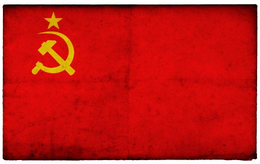 Patriotism「Grunge Former Soviet Union Flag on rough edged old postcard」:スマホ壁紙(3)