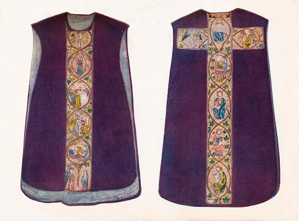 服装「'English Work Chasuble Circa 1300', 1912」:写真・画像(12)[壁紙.com]