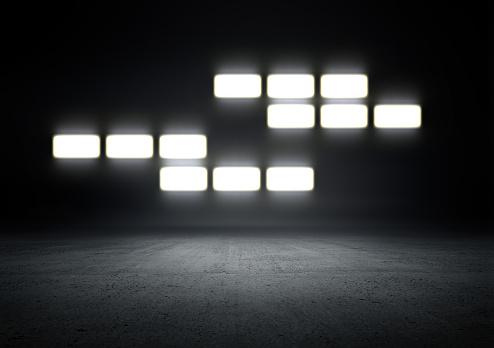 Color Gradient「Empty Studio Background lighting」:スマホ壁紙(19)