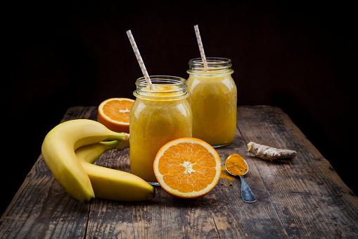 Orange - Fruit「Orange banana smoothie with ginger and curcuma」:スマホ壁紙(5)