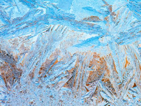 氷晶「Icy Designs on Frosted Window」:スマホ壁紙(7)