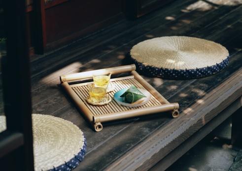 Wagashi「Cold Tea and Japanese Sweet」:スマホ壁紙(13)