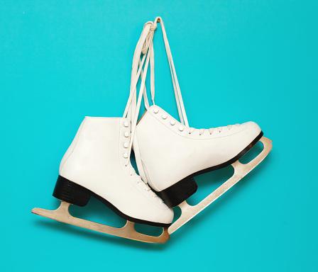 Ice-skating「white ice skates for figure skating」:スマホ壁紙(19)