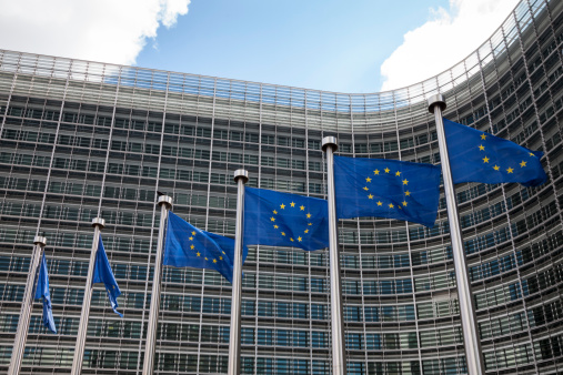 City of Brussels「Belgium, Brussels, European Commission, European flags at Berlaymont building」:スマホ壁紙(3)