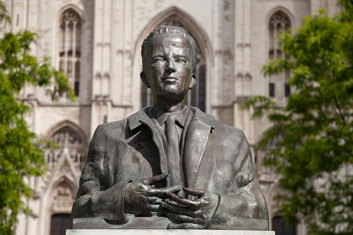 Bust - Sculpture「Belgium, Brussels, bust of King Baudouin」:スマホ壁紙(18)