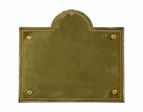 Nameplate「Tarnished Old Brass Plate」:スマホ壁紙(10)