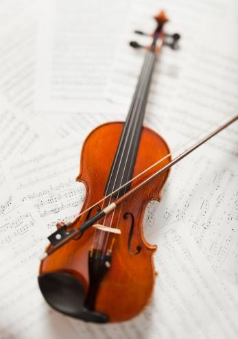 Violin「Violin on sheet music」:スマホ壁紙(15)