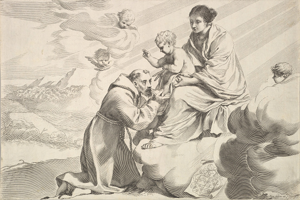 Jesus Christ「St Francis Of Assisi Adoring The Christ Child On The Virgins Lap Creator: Claude Mellan」:写真・画像(16)[壁紙.com]