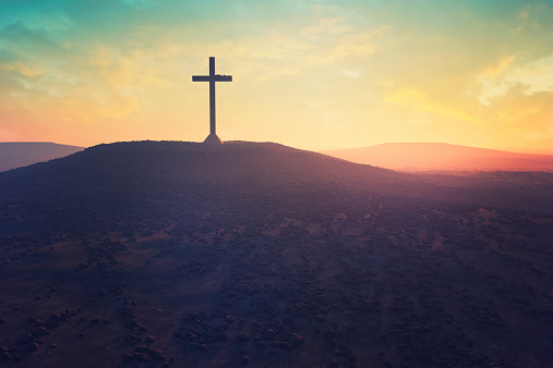 Christianity「Cross in the middle of a desert」:スマホ壁紙(3)