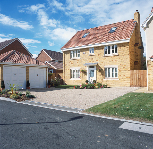 Blue「Property development. A large number of new houses are built all over the UK.」:写真・画像(8)[壁紙.com]